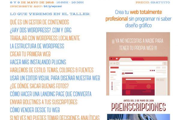CartelTallerWordpress-CEEI-Albacete