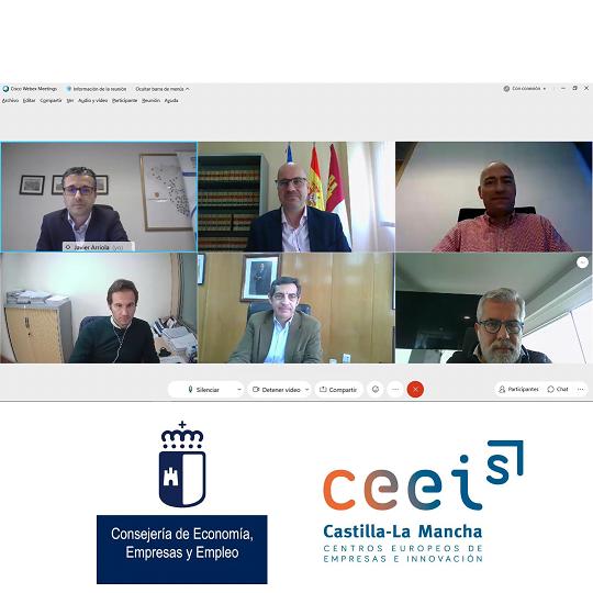 Imagen+Logos CEEIs CLM - Reunio_n DG JCCM Javier Rosell.